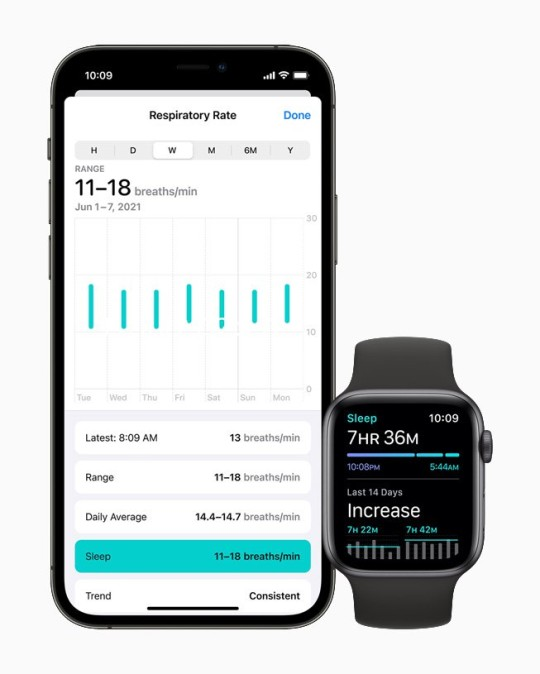 Apple Watch and iPhone with health stats feature
