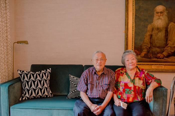 William and Jee Wong, who downsized from a four-bedroom townhouse in Clapham for a one-bedroom flat at Nightingale Place