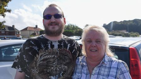 Aaron Shead, 34, and Sandra Mussgrave, 61, from Essex. Picture: Danielle Booden