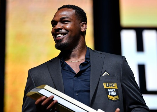 Jon Jones was inducted into the UFC Hall of Fame this week