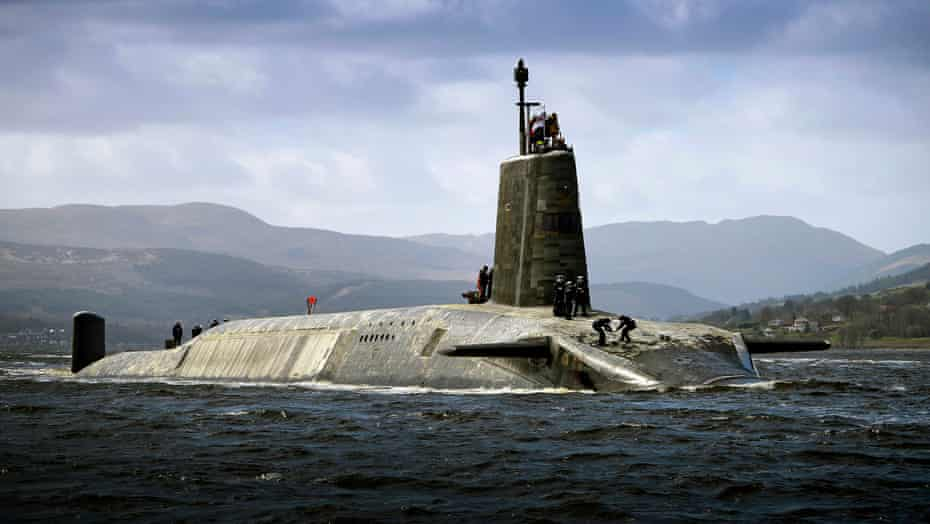The real thing … HMS Vigilant returns to base in Scotland after an extended deployment.