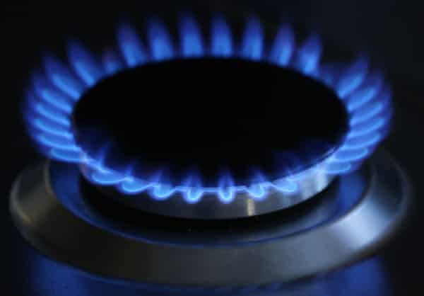 a gas cooker flame