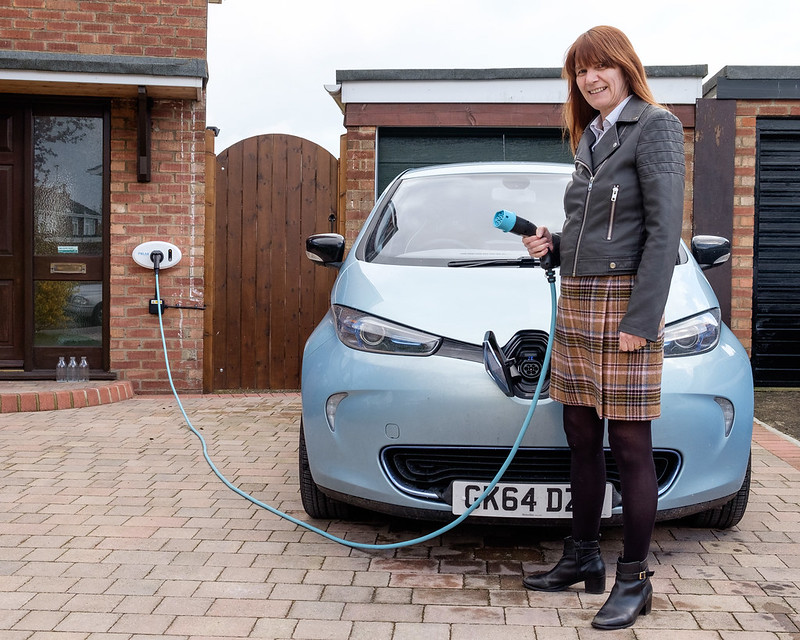 electric vehicle car charging at home