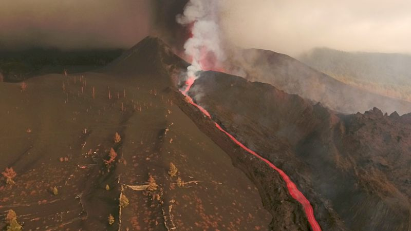 La Palma's airport reopens although flights cancelled as island's volcano eruption continues