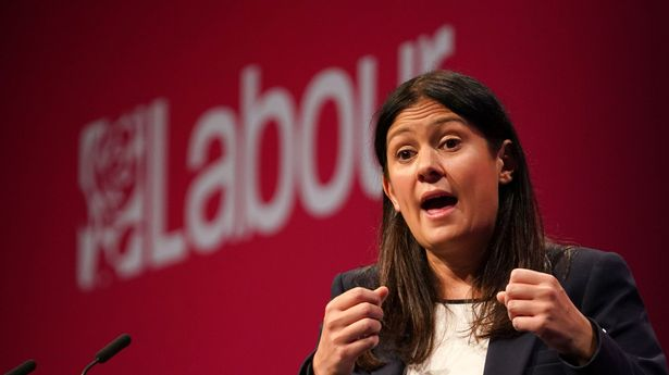 Shadow Foreign secretary Lisa Nandy speaks at the Labour Party conference in Brighton