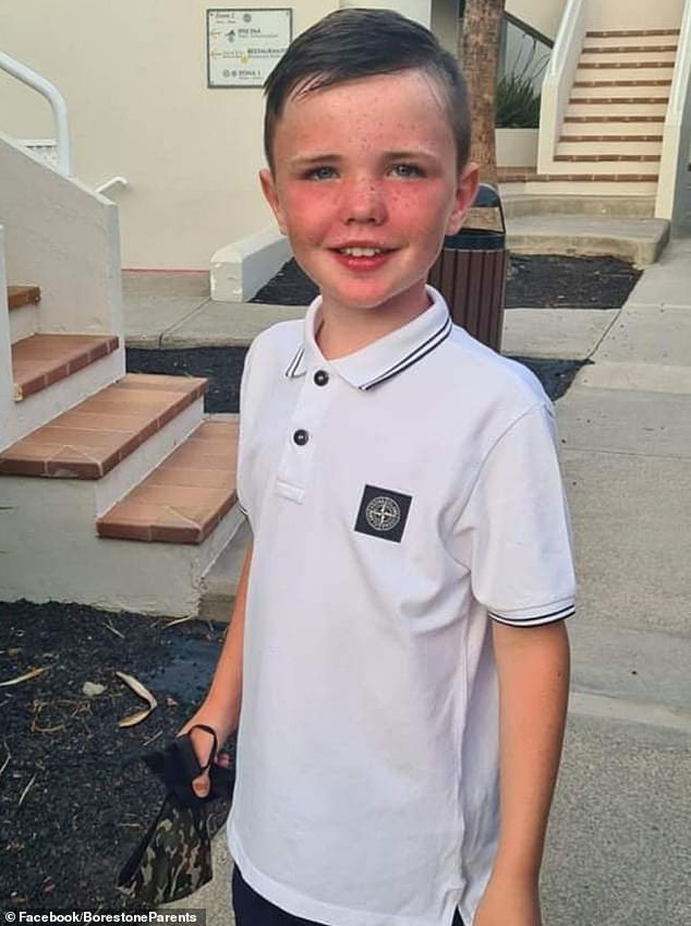 Jack McGeoch (pictured), nine, was taken to hospital after suffering with severe abdominal pain and vomiting at his home in Borestone, Stirling, last Tuesday