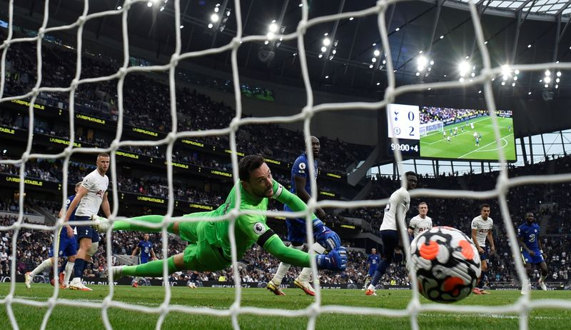 Soccer-Chelsea thrash Spurs as Greaves death overshadows action