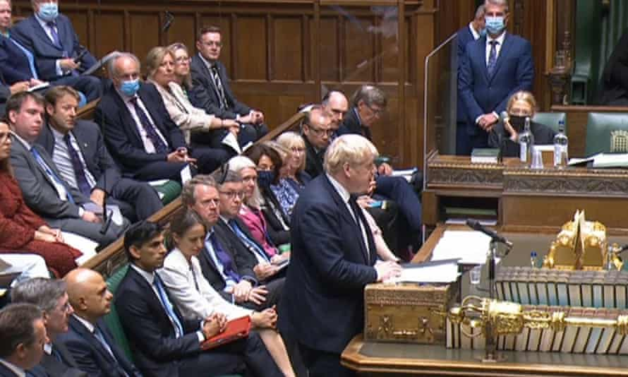 The prime minister makes a statement in the Commons on the government's plans to introduce a health and care levy.