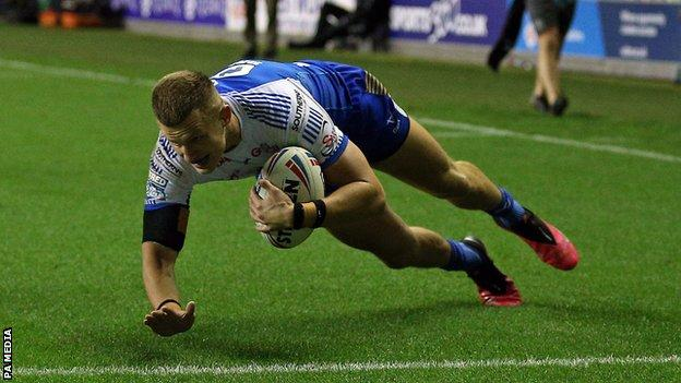 Ash Handley scored the game's only try for Leeds