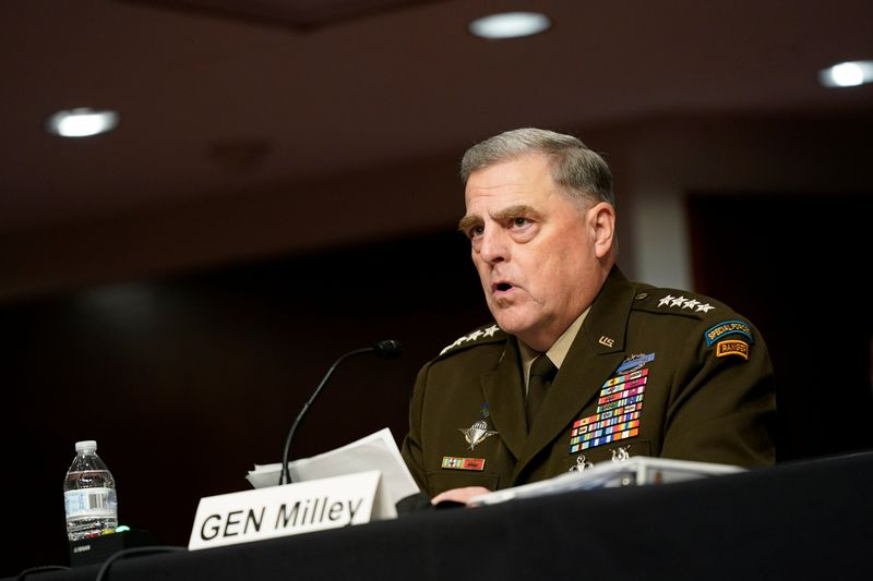 Under fierce Republican attack, U.S. General Milley defends calls with China