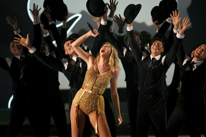 Taylor Swift performs at the 2019 American Music Awards in Los Angeles