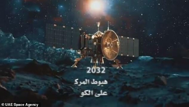 The final aim is to land the craft on an asteroid, as shown in this image from a promotional clip