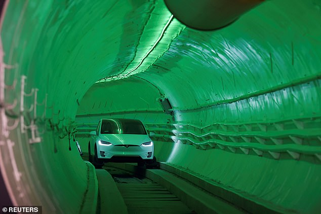 'It's much more like an underground highway than it is a subway,' Musk said. 'It's not like you're going through a whole series of stops. Nope, the main arteries will be going super fast, and it's only when you want to get off the loop system that you slow down'