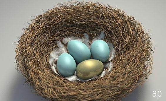 Retirement nest eggs