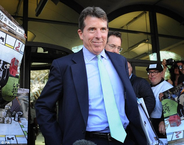 Moving on:The former boss of Barclays, Bob Diamond, is stepping down from his role as chairman of  Atlas Mara