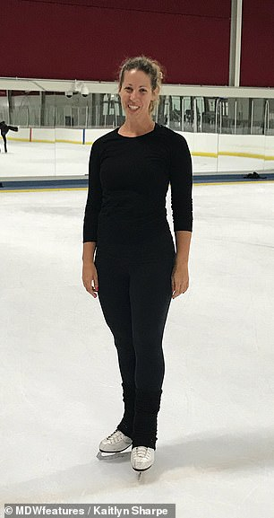 The discomfort eventually became too much to bear and forced Mrs Sharpe to quit ice skating in her mid twenties