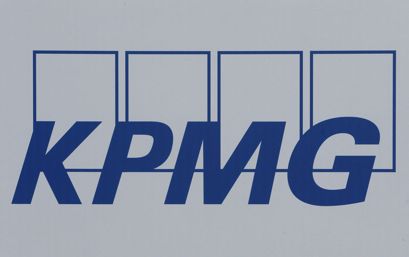 © Reuters. FILE PHOTO: The logo of global auditor KMPG is seen on a board at the SPIEF 2017 in St. Petersburg