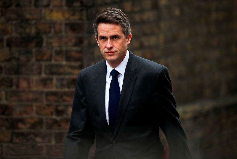 © Reuters. FILE PHOTO: Britain's Secretary of State for Defence Gavin Williamson is seen outside Downing Street in London