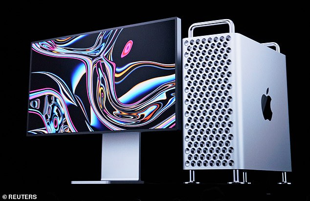 At the tech giant's Worldwide Developer Conference on Monday, Apple revealed the new $6,000 Mac Pro desktop computer (right) and the $5,000 Mac Pro Display XDR (left)
