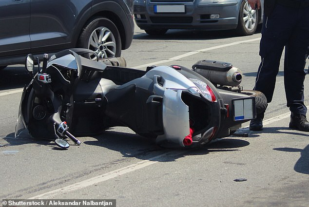 A 35-year-old British man was left with a nine-day erection after falling off his moped and bruising his genitals (stock image)