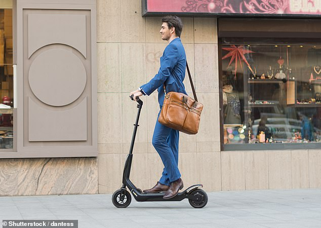 Scientists have warned electric scooters reach speeds up to 30mph (48km/h) (stock image)