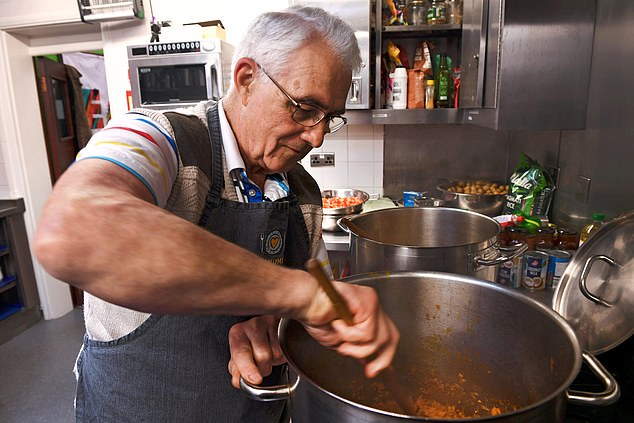 Norman Johnson (pictured), 79, from Surrey, now cooks for his wife after hermultiple sclerosis worsened,leaving her wheelchair-bound and barely able to move