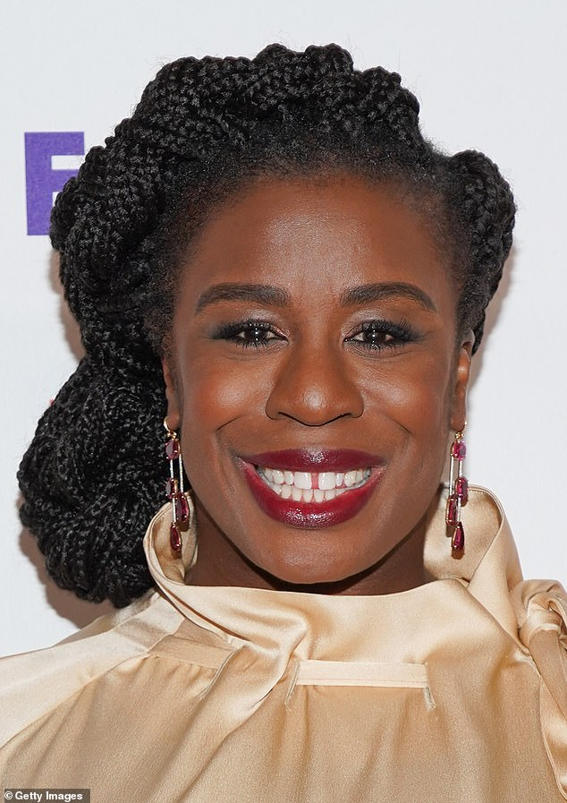 Predominately women in their 20s are following the trend, but women in their 30s and 40s are paying to reverse dentistry work that filled their gap before, Dr Hughes said. Pictured, Uzo Aduba who starred in Orange Is The New Black