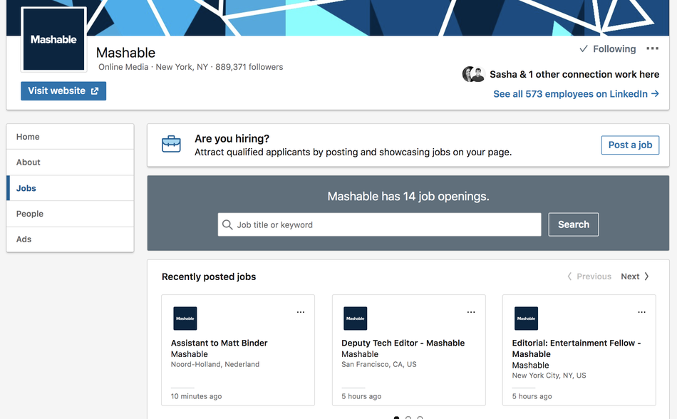 One of these Mashable job openings is not like the others.