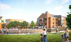 An artist's impression of what Wigan Pier could look like if the developer's plans are realised.