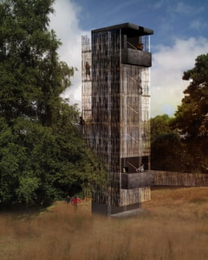 The planned observation tower that will open later this year.