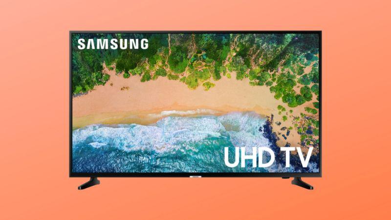 Samsung's 4K TV includes three HDMI ports and two USB port. (Photo: Walmart/Yahoo Lifestyle)