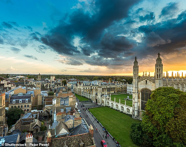 Divine: House prices in notoriously expensive Cambridge have become marginally more affordable