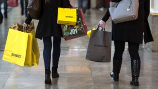 Women carrying shopping bags