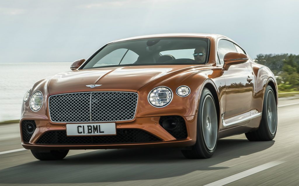Sunday Times Motor Awards 2019 Best British-Built Car of the Year. Bentley Continental GT V8