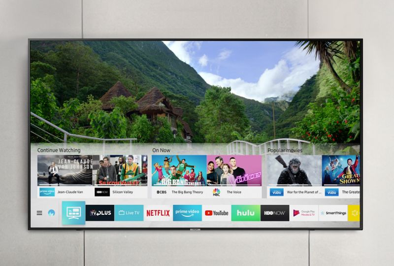 This Samsung 75-inch 4K TV is also a smart TV. (Photo: Amazon)