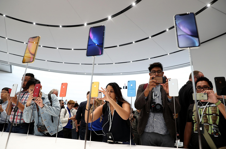 iPhone displays three