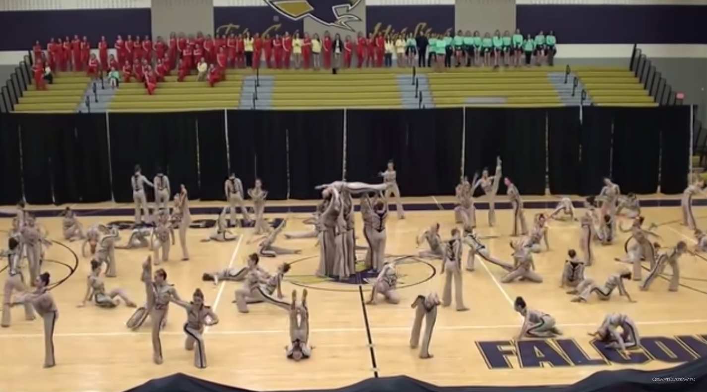 """The Southlake Carroll Varsity Emerald Belles performing at the """"Crowd Pleasers Dance Area Competition"""" in 2017. 