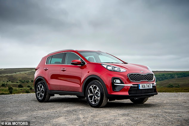 Kia celebrated two successes, both in the SUV category. The Sportage (pictured) was crowned the best used small SUV while its bigger sibling Sorento won used large SUV of the year