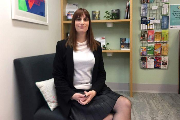 An female academic in her Brisbane office