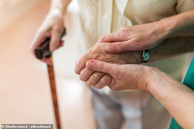 Being an energetic and outgoing individual was also shown to improve one's chances of dodging dementia in old age (file photo) by seven per cent