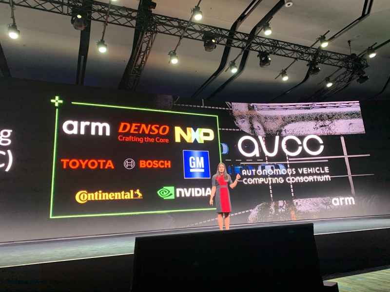 Arm's alliance for self-driving cars.