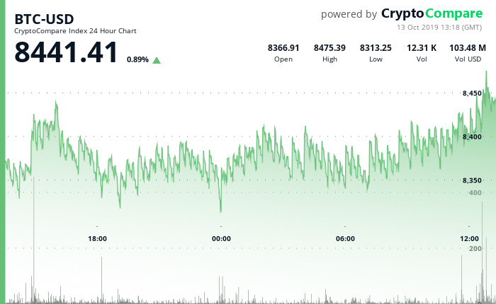 BTC-USD 24 Hour Chart - 13 Oct 2019.png