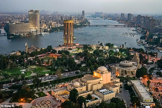 This mantle activity — lifting up the south and pulling the north down at the same time — would have kept the Nile on a gentle gradient that maintained its consistent, northward-wending course. Pictured, the Nile, as seen today, passing through Cairo