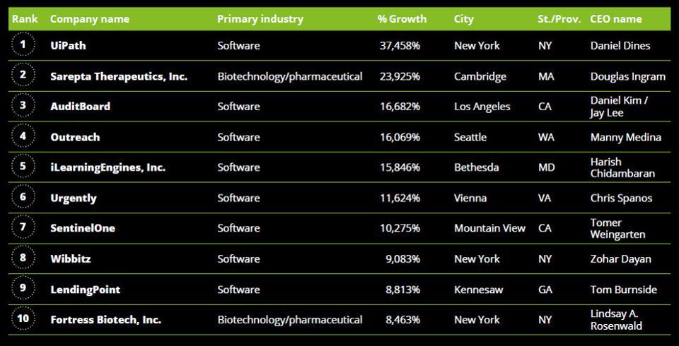 Deloitte's North America Technology Fast 500