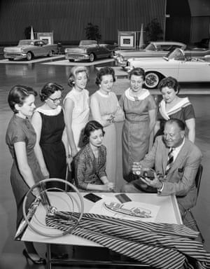 Feminine touch … Harley Earl with General Motors' Damsels of Design.