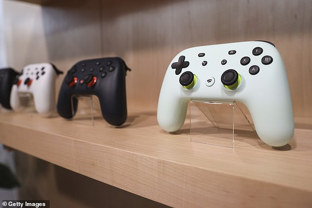 Stadia will be playable on desktop computers, tablets, smartphones, smart televisions, digital media players and via Chromecast. Google will also be selling controllers, pictured, designed for use with the service