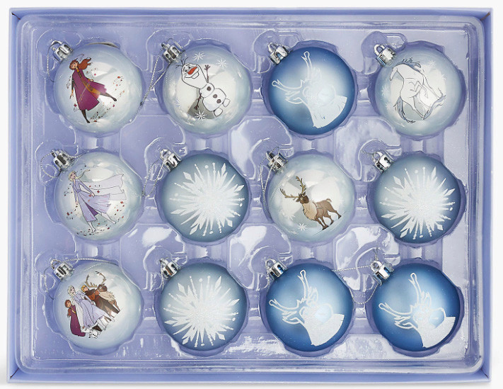 Grab a set of 12 Frozen 2 baubles for only £6 at M&S
