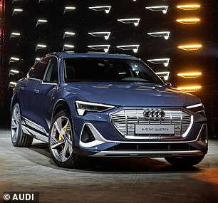 Audi has just unveiled the 278-mile range e-tron Sportback - an SUV aimed at families that's on sale next year for around £70,000