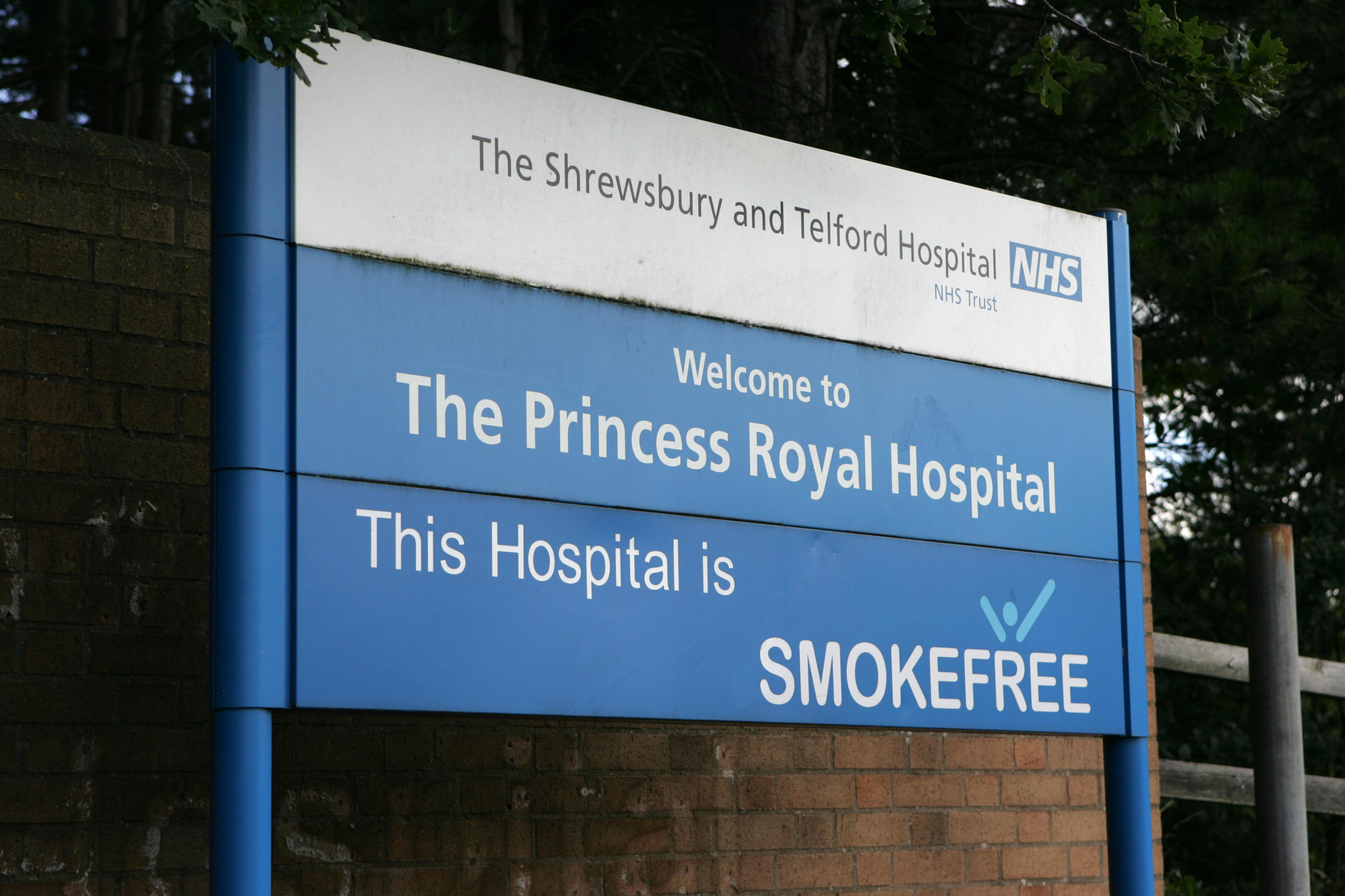 The Princess Royal Hospital, which is part of the The Shrewsbury and Telford Hospital NHS trust