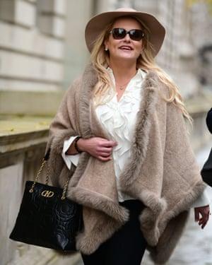 Jennifer Arcuri in London on Saturday